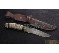 Нож из дамаска «Волк»