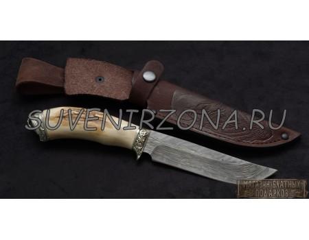 Купить нож из мозаичного дамаска «Носорог»