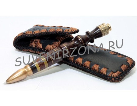 Купить шариковую ручку «Багдад» в чехле (эбонит, латунь, текстолит, оргстекло)