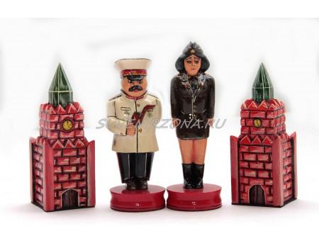Купить шахматные фигуры ручной работы «Вожди 20-го века»